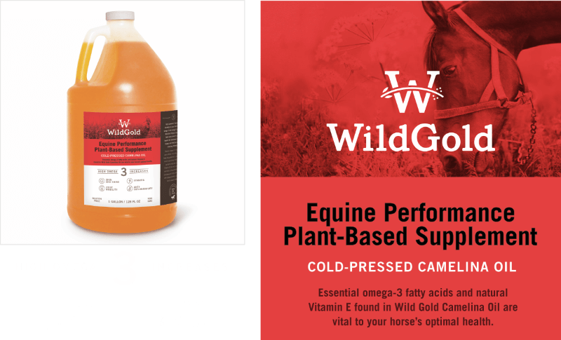 Wild Gold Cold-Pressed Camelina Oil Equine Supplements